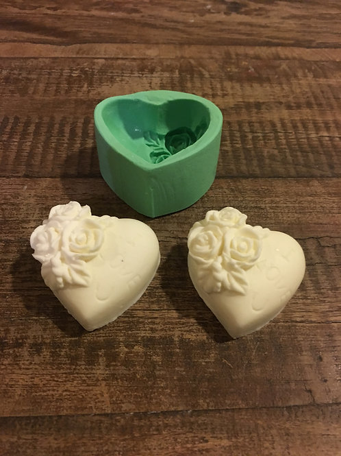 Molde de Silicone - Coração Floral