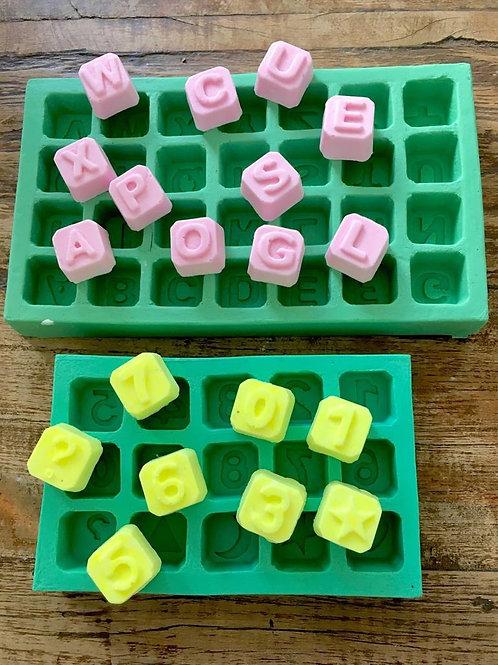 Molde de Silicone - Kit Cubo Letras e Numeros