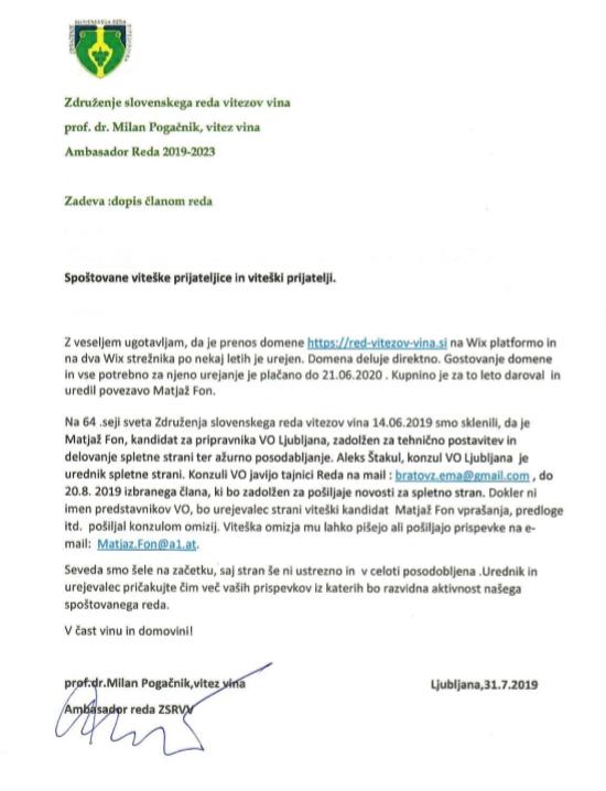 Dopis ambasadorja clanom 2019 08 01.png