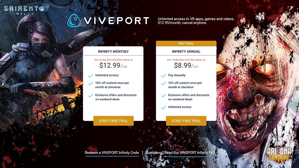 VIVE-Desktop-Infinity on Viveport-octobe
