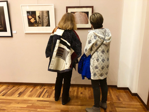 Installation of 2019 Open Photo Exhibit, Cambridge Art Association