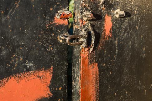 Orange and Black Gate