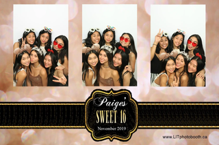 Off White Sweet 16 Photo Booth Template