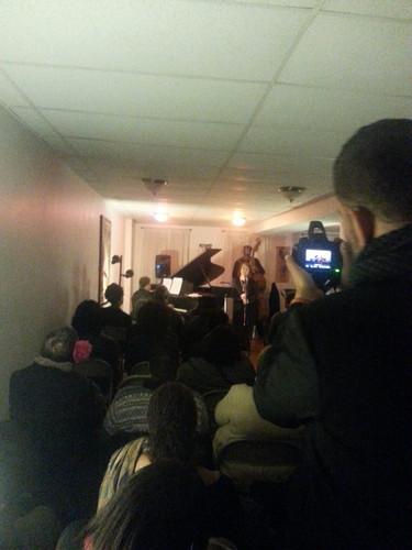 SRO crowd at 'Listen Up' 10/24/15 Jazz music event