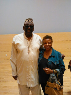 Reception for Randy Weston early 2015 at launch of his residency at New School