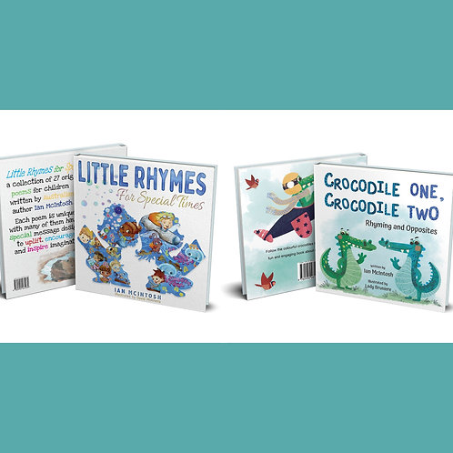 Little Rhymes For Special Times & Crocodile One, Crocodile Two. Due late Feb 21