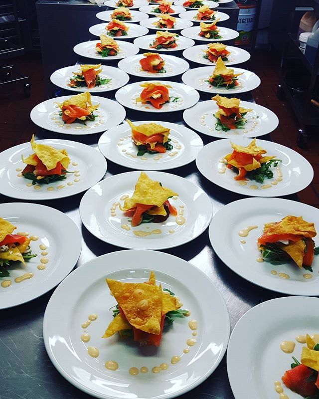 Salmon stack at Highfield _#Highfield function _#function _#gluten free_#dinner_#colour of earth foo