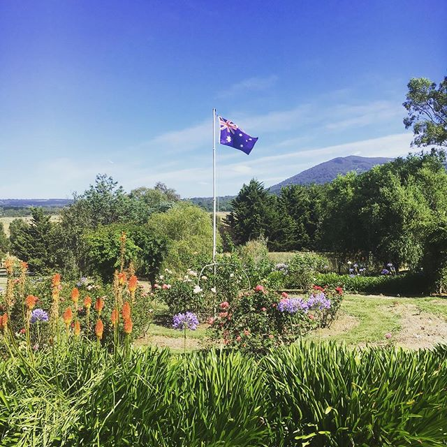 Highfield Estate Flag & Macedon views!  Happy Australia Day! __colourofearthfoodforlife #macedonrang