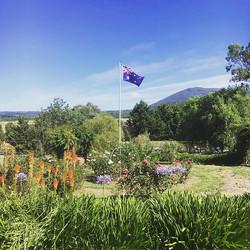 Highfield Estate Flag & Macedon views!  Happy Australia Day! __colourofearthfoodforlife #macedonrang