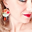 Thumbnail: Adornos di Marcella for TangoLeike Earings made of upcycled leather
