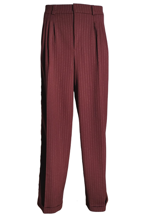 Elegant Tango trousers in bordeaux with stripes