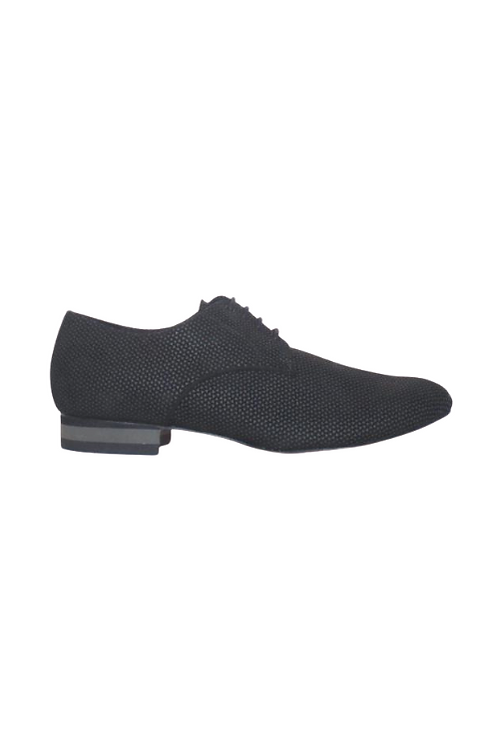 Men's tango shoes Tanguero, black suede with gray pattern