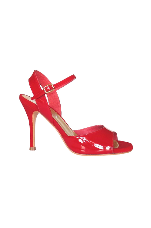 Tango Sandals Marisol, red  patent leather and red suede