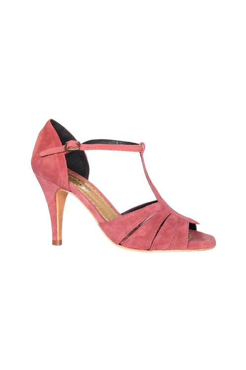 Tango Sandals Asunción, old pink suede