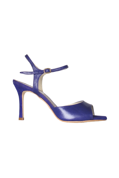 Tango Sandals Grace, violet leather and violet suede