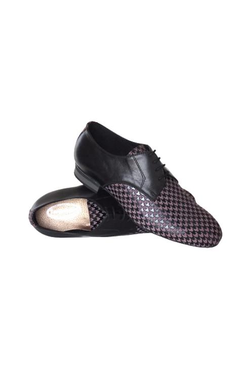 Men's tango shoes Tanguero, violet/black leather