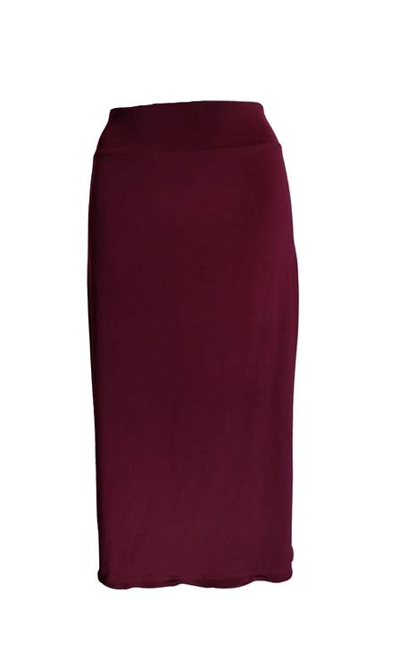 Skirt in bordeaux microfibra
