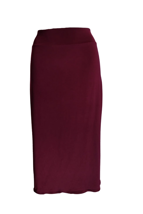 Skirt in bordeaux microfibra