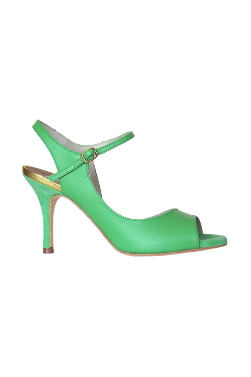 Tango Sandal in soft green leather