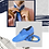 Thumbnail: FERNANDO is made of blue suede and blue woven leather 22-80-57