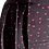 Thumbnail: Skirt Moira in black microfibra with red pois
