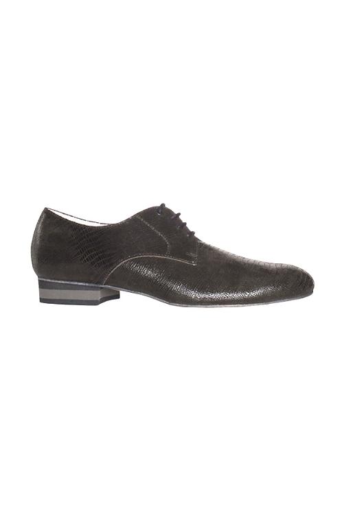Men's tango shoes Tanguero, dark green lizard