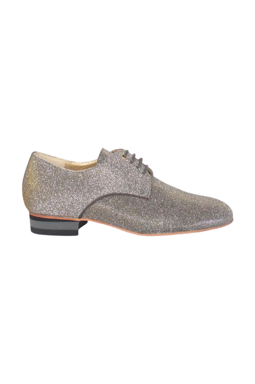 Men's tango shoes Tanguero, gold/silver iridescent lurex