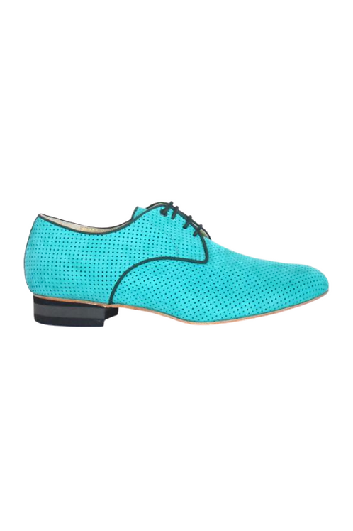 Men's tango shoes Tanguero, mint leather