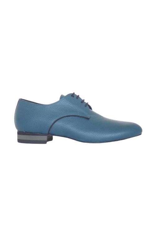 Men's tango shoes Tanguero, petroleum grained leather