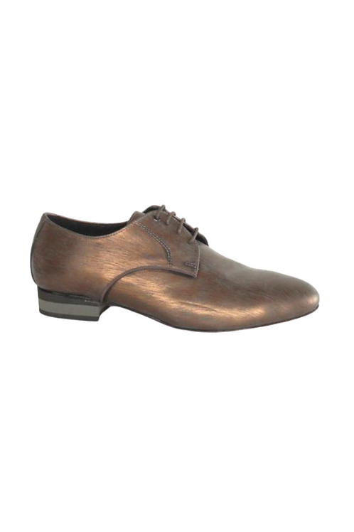 Men's tango shoes Tanguero, bronze leather with pattern
