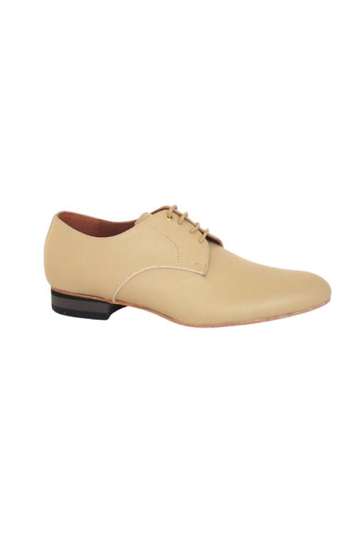 Men's tango shoes Tanguero, cream leather