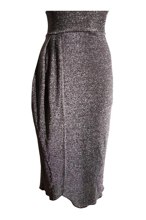 Skirt Moira for an elegant night in silver