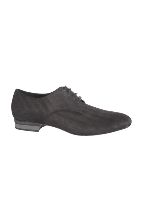 Men's tango shoes Tanguero, black leather with zigzag pattern