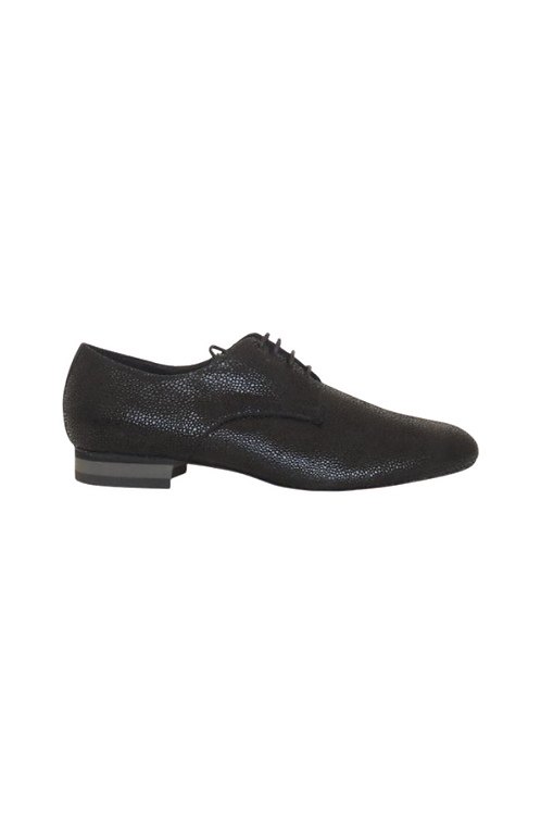 Men's tango shoes Tanguero, black suede caviar design
