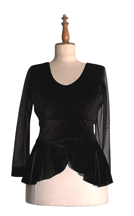 Top Dama with sleeves in organza