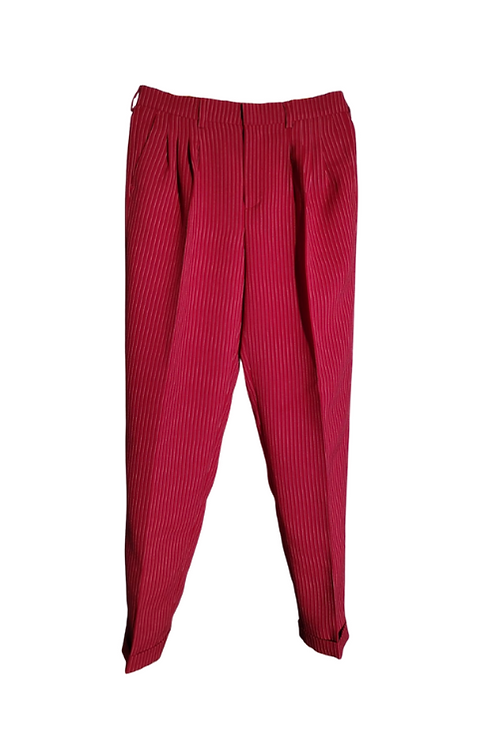 Red tango trousers with stripes