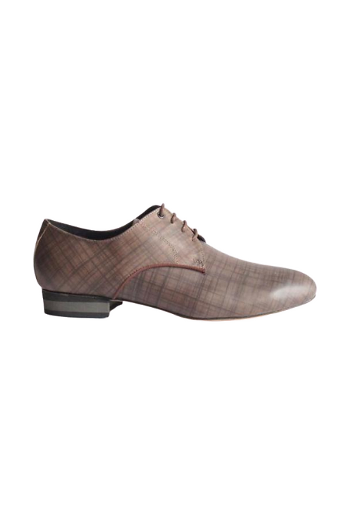 Men's tango shoes Tanguero, taupe leather with pattern