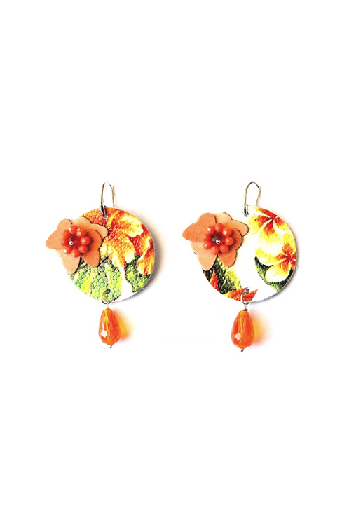 Adornos di Marcella for TangoLeike Earings made of upcycled leather