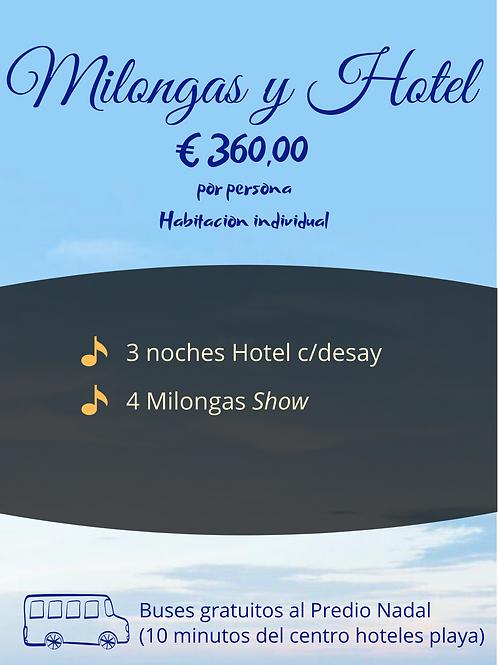 Milongas y Hotel - Habitacion individual
