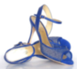 blue glitter shoes with high heel