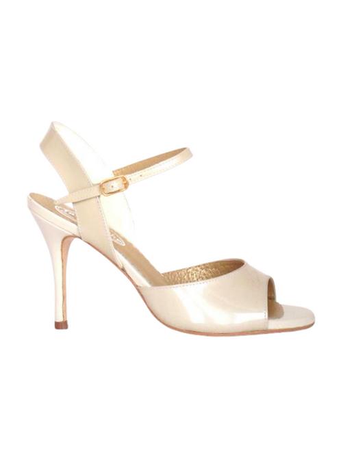 Tango Sandals Marisol, beige patent leather