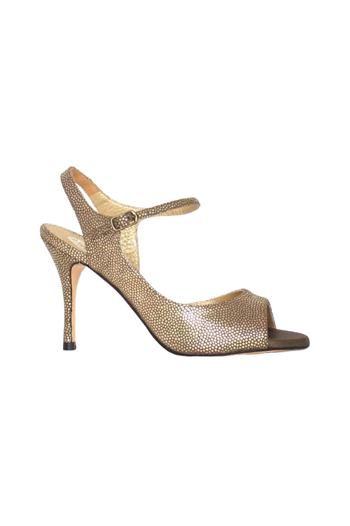 Tango Sandal in metallic leather