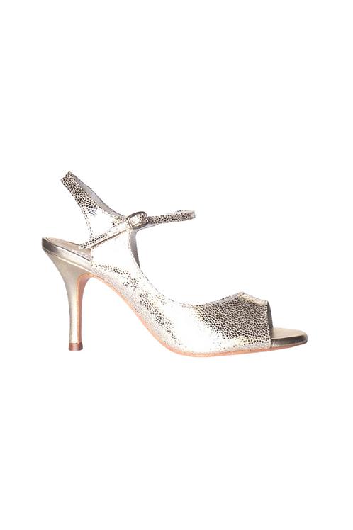 Tango Sandal in platin leather