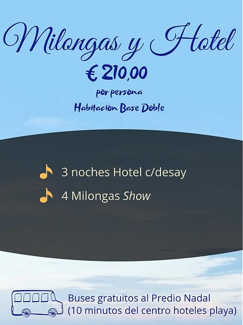Milongas y Hotel - Habitacion Base Doble