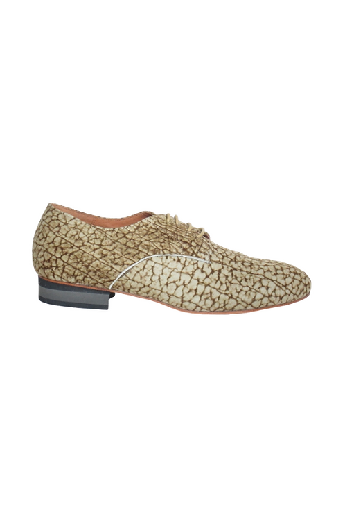 Men's tango shoes Tanguero, beige/tobacco suede