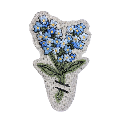 Brooch - Forget-me-not