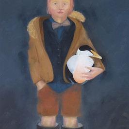 Telpan með þverslaufuna/The girl with the bow tie