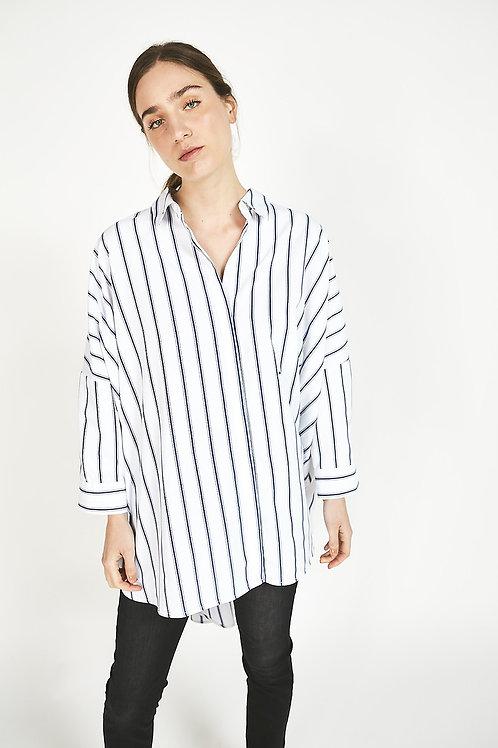 camisa larga herbelo marino