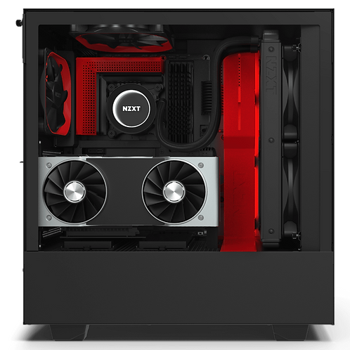 NZXT Matte Red & Black H510i Mid Tower Chassis w/ Smart Device