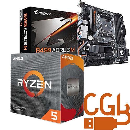 Ryzen 5 3500X & Gigabyte B450 AORUS M Motherboard Combo